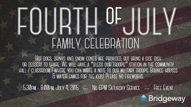 4th of July Celebration 2015 Webbanner