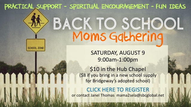 Banner - Back to School Moms Gathering 2014
